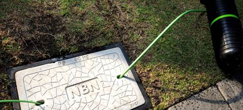Image of an NBN cover and some cables